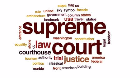 supremo : Supreme court animated word cloud, text design animation.