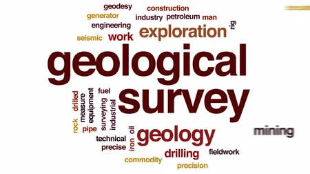 broca : Geological survey animated word cloud, text design animation.