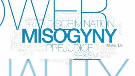 eşitlik : Misogyny animated word cloud, text design animation. Kinetic typography.