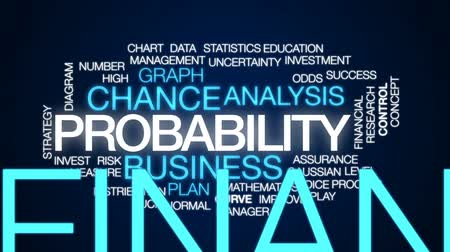 incerteza : Probability animated word cloud, text design animation.