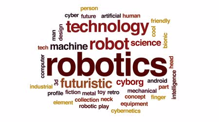 vybírání : Robotics animated word cloud, text design animation. Dostupné videozáznamy