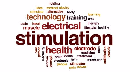 electro : Stimulation animated word cloud, text design animation.