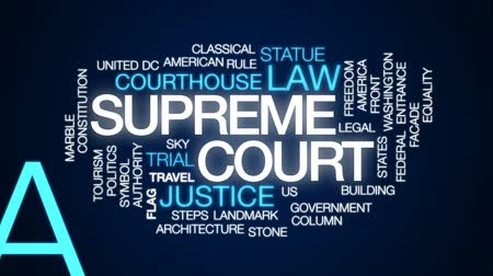 eşitlik : Supreme court animated word cloud, text design animation.