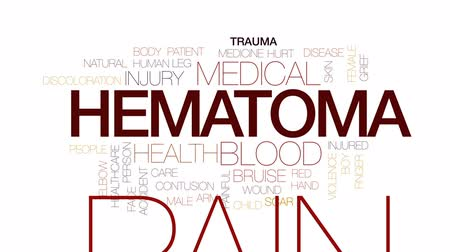 rana : Hematoma animated word cloud, text design animation. Kinetic typography.