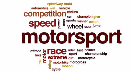 motorsports : Motorsport animated word cloud, text design animation.