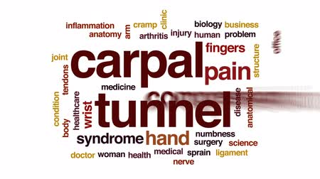 struktura : Carpal tunnel animated word cloud, text design animation. Wideo