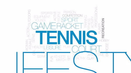 spielen : Tennis animierte Wortwolke, Textdesignanimation. Videos