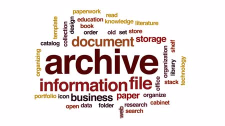 specificity : Archive animated word cloud, text design animation. Stock Footage