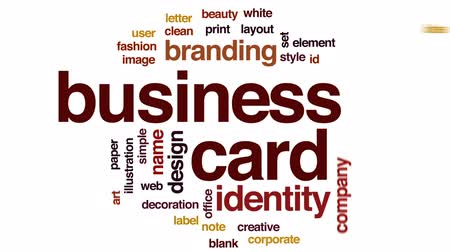 etiketler : Business card animated word cloud, text design animation.