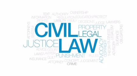 teoria : Civil law animated word cloud, text design animation. Kinetic typography. Vídeos