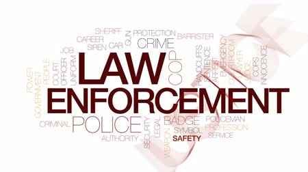 autoridade : Law enforcement animated word cloud, text design animation. Kinetic typography.