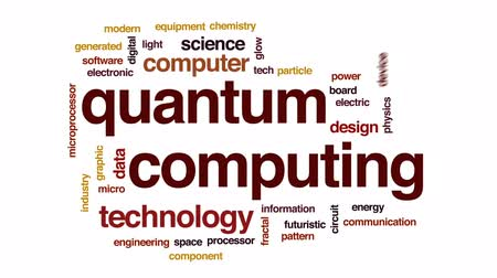 fraktální : Quantum computing animated word cloud, text design animation. Dostupné videozáznamy