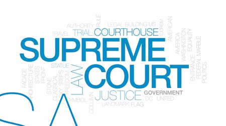 supremo : Supreme court animated word cloud, text design animation. Kinetic typography.