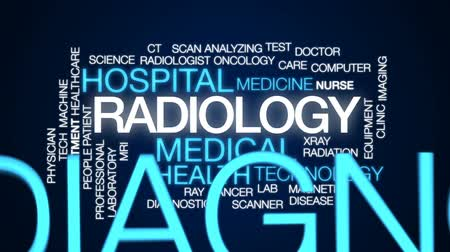 oncology : Radiology animated word cloud, text design animation. Stock Footage