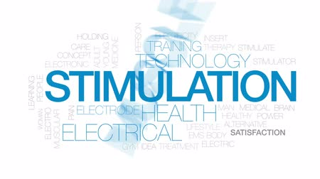 electro : Stimulation animated word cloud, text design animation. Kinetic typography. Stock Footage