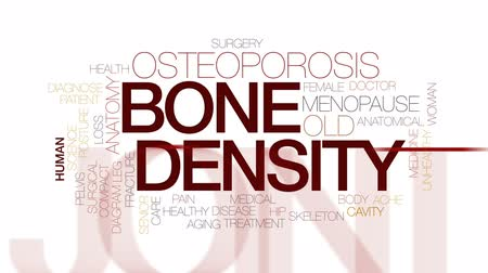 compacto : Bone density animated word cloud, text design animation. Kinetic typography. Vídeos