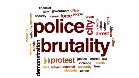 ralli : Police brutality animated word cloud, text design animation.