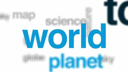 planet : Space tourism animated word cloud, text design animation. Stock Footage