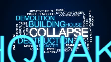 moloz : Collapse animated word cloud, text design animation. Stok Video