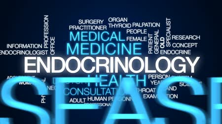garganta : Endocrinology animated word cloud, text design animation. Stock Footage