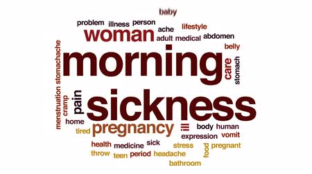 vomit : Morning sickness animated word cloud, text design animation.