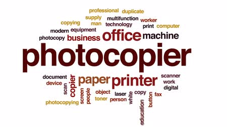 impressão digital : Photocopier animated word cloud, text design animation.