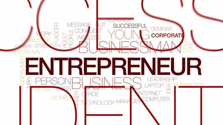 superior : Entrepreneur animated word cloud, text design animation. Kinetic typography.