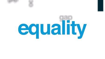 ocupação profissional : Income inequality animated word cloud, text design animation. Stock Footage