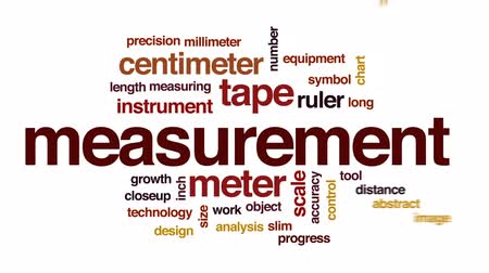 centímetro : Measurement animated word cloud, text design animation.