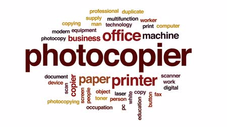 toner : Photocopier animated word cloud, text design animation.
