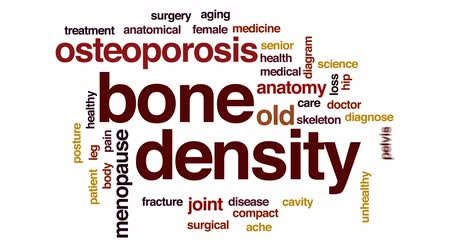 yoğunluk : Bone density animated word cloud, text design animation.