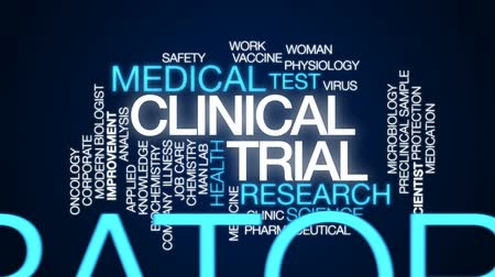 fyziologie : Clinical trial animated word cloud, text design animation. Dostupné videozáznamy