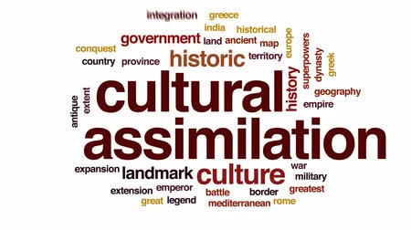 greatest : Cultural assimilation animated word cloud, text design animation.