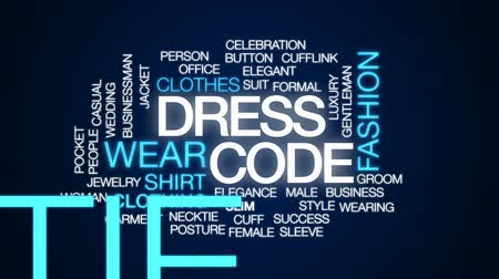 рукав : Dress code animated word cloud, text design animation.