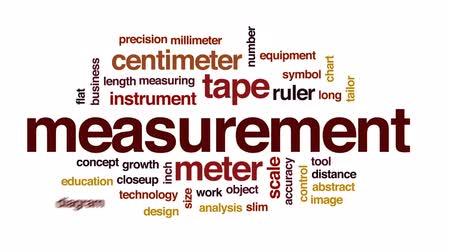 medir : Measurement animated word cloud, text design animation.