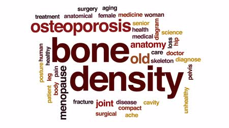 compacto : Bone density animated word cloud, text design animation.
