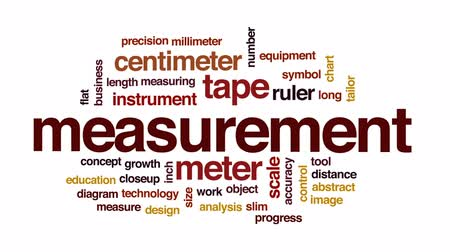 measure tape : Measurement animated word cloud, text design animation.