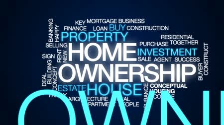 properties : Home ownership animated word cloud, text design animation.