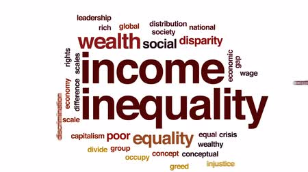 Income inequality animated word cloud, text design animation. Dostupné videozáznamy