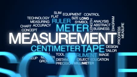 palec : Measurement animated word cloud, text design animation.