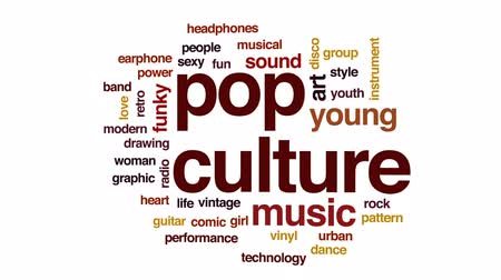kytara : Pop culture animated word cloud, text design animation.