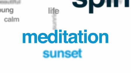 ruhanilik : Spirituality animated word cloud, text design animation. Stok Video