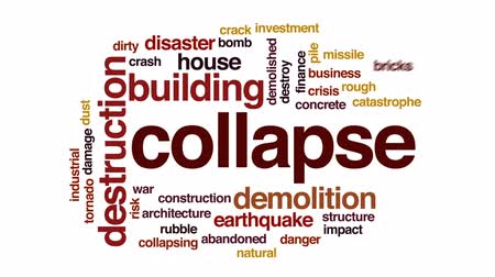 rachaduras : Collapse animated word cloud, text design animation. Vídeos