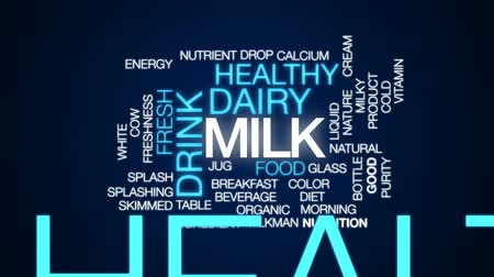 wapń : Milk animated word cloud, text design animation. Wideo