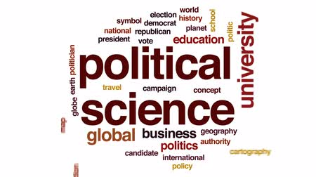 election campaign : Political science animated word cloud, text design animation. Stock Footage