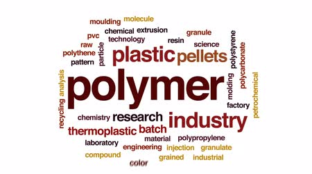 молдинг : Polymer animated word cloud, text design animation. Стоковые видеозаписи