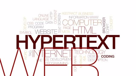 описание : Hypertext animated word cloud, text design animation. Kinetic typography.