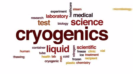 fiola : Cryogenics animated word cloud, text design animation. Stock mozgókép