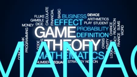 азартная игра : Game theory animated word cloud, text design animation. Стоковые видеозаписи