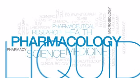 proveta : Pharmacology animated word cloud, text design animation. Kinetic typography.